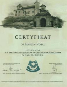 2010-Certyfikat-I-Tarnowskie-Spotkanie-Ultrasonograficzne