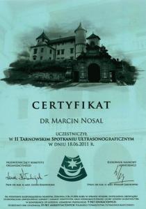 2011-Certyfikat-II-Tarnowskie-Spotkanie-Ultrasonograficzne