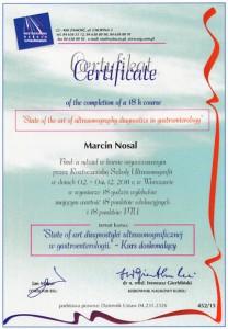 2011-Certyfikat-State-of-art-diagnostyki-ultrasonograficznej-w_gastroenterologii
