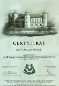 2012-Certyfikat-III-Tarnowskie-Spotkanie-Ultrasonograficzne