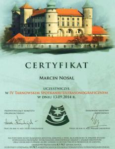 2014-Certyfikat-IV-Tarnowskie-Spotkanie-Ultrasonograficzne